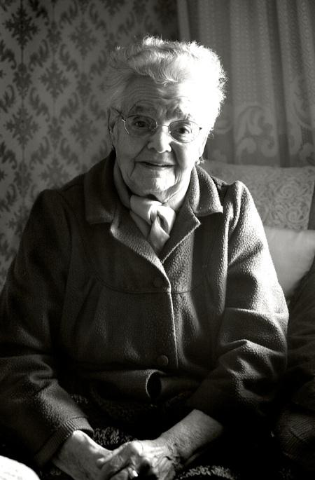 La Pilar y sus 89años