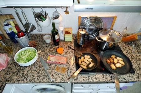 Ensalada Paco Elvira y rollitos vegetales